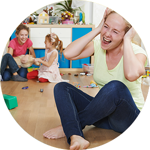 stressed parent
